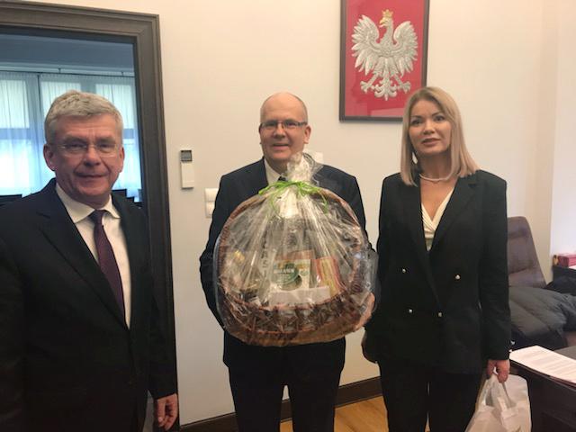 Ze świąteczną wizytą w Senacie Rzeczypospolitej Polskiej