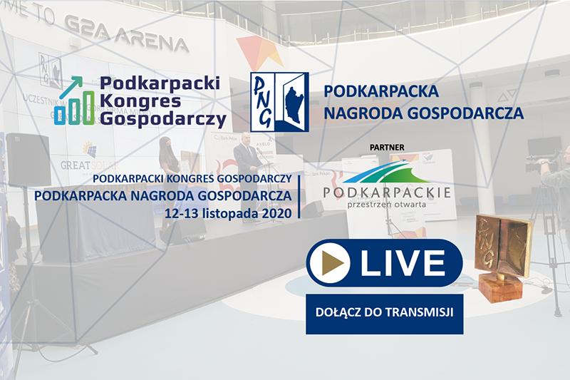 Trwa transmisja – Podkarpacka Nagroda Gospodarcza 2020 [LIVE]